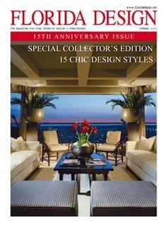Florida Design interior design magazine, home decorating magazine, shelter magazine, architecture magazine, lifestyle magazine