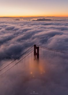 Above The Golden Gate by Toby Harriman