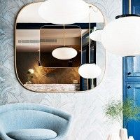 Inside a Sleek Parisian Hotel With Midcentury Details