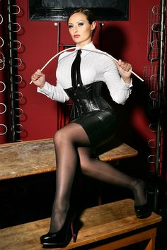 Mistress, Domina, Dominatrix, Mature, Corset, Crossed Legs, Boots, Stiletto, Powerful, Strict, Cruel, Cane