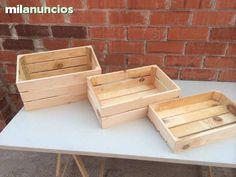 . Cajas de madera nuevas, hechas a mano, t�picas cajas de fruta. m�xima calidad, madera de pino, totalmente hecha a mano lo cual le da un toque muy autentico, para decoraci�n de restaurantes, almacenaje en casa, para hacer cestas de regalo, decoraci�n, Arma