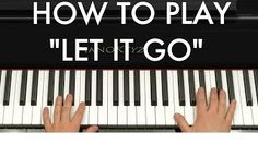 how to play past the intro of let it go on piano - YouTube