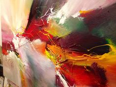 Very large abstract painting by Dan Bunea: Glorious by danbunea