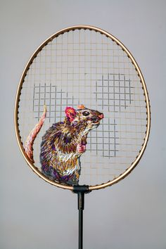 embroidery on a racket or netting. Danielle_Clough_13