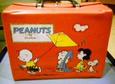Peanuts Red vinyl lunch box by Schulz 1966 by Thermos