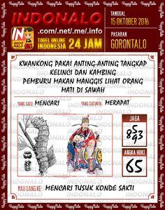 Kodal SDSB Togel Online Live Draw 4D Indonalo Gorontalo 15 Oktober 2016
