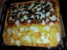 Pizza con patate e melanzane