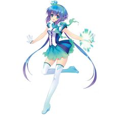 Aoki Lapis ❤ liked on Polyvore featuring anime, vocaloid, anime girl and fillers