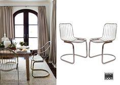 These gorgeous Mid Century tubular chrome frame chairs will make statement piece of any interior. Get one for €70 or pair for €120. Estas hermosas sillas Mid Century con marco cromado tubular causaran furor en cualquier interior. Consegue uno por €70 y €120 por la pareja .