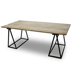 Would love to have this iron & wood table for a desk in our computer/video games/workout/ironing room.