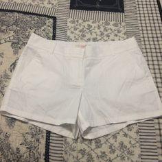 J Crew Shorts NWT- White 100% Cotton- Inseam 3 1/2 inches Shorts