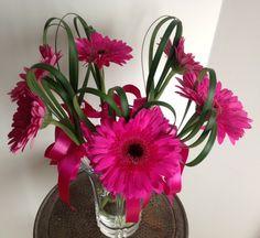 Bridesmaids - single hot pink Gerbera flower by Kaas Floral Design Gerbera Flower, Pink Gerbera, Flowers, Wedding Images, Bridesmaids, Hot Pink, Floral Design, Plants, Bridesmaid