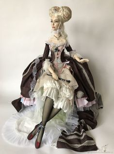 Emo Fashion, Fashion Dolls, Fashion Art, Gothic Fashion, Clay Dolls, Art Dolls, Gothic Corset, Victorian Gothic, Gothic Lolita