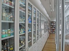 Harvard Art Museum's collection of 2,500 pigments from around the world - photo by Andrea Shea