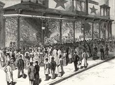 Macy's Christmas Window, 1884 from Frank Leslie's Illustrated Newspaper.