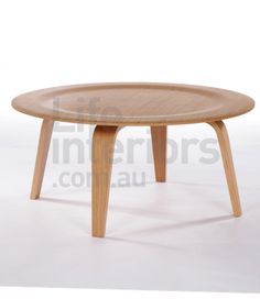 Replica Eames Round Molded Plywood Coffee Table