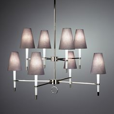 Modern Lighting | Ventana Two Tier Chandelier Ceiling Lamp | Jonathan Adler