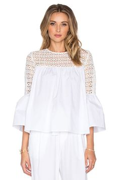 Endless Rose Louvre Top in Off White | REVOLVE