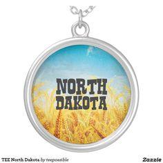 TEE North Dakota Round Pendant Necklace