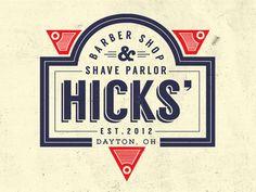 Dribbble - Barber Shop Logo by Zach Halfhill