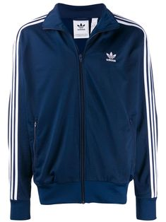 Adidas Stripe Detail Jacket - Shop Now! Adidas Tracksuit, Tracksuit Jacket, Adidas Jacket Mens, Adidas Fashion, Adidas Originals Mens, Blue Adidas, Fashion Wear, Blue Stripes, Size Clothing