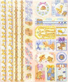 Joy!Crafts Sparkling Embossed stickers Baby 6013/0022 - Embossed stickers