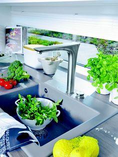 #Sleek gray kitchen sink | Villeroy & Boch
