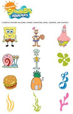 Cricut Sponge Bob Squarepants Shape Cartridge