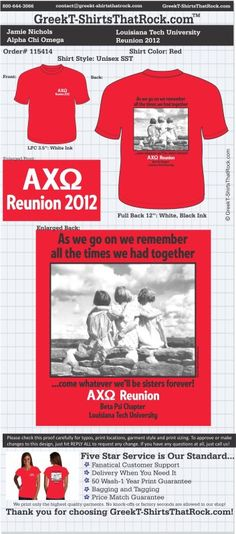 Alpha Chi Omega T-Shirts That Rock 115414proof ...................................................WORK 1 ON 1 with a member of our design team until your T-Shirt ideas are perfect.... and ALWAYS them on in time (before you even need them) at the price you want! ...................................................................................................... JUST CLICK THIS IMAGE TO GET STARTED!