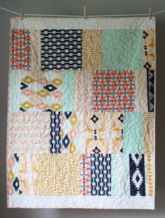 Tribal Baby Quilt Girl Tribal Quilt Arizona Baby by GoBeWonderful