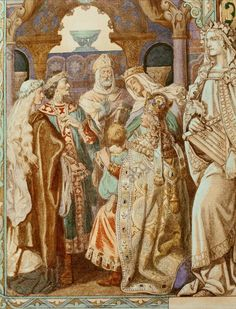 Parzival's son Loherangrin is called to the Grail by Eduard Ille