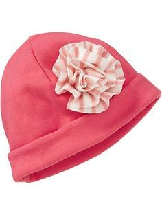 $6 Striped-Rosette Hats for Baby | Old Navy