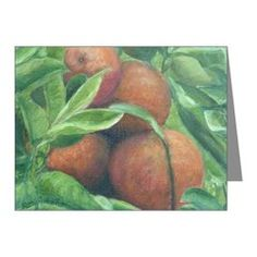 BACKYARD ORANGES Note Cards