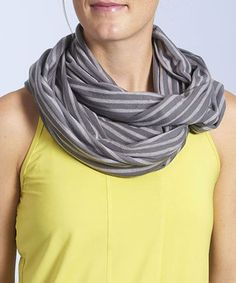 Take a look at this Graphite Runfinity Stripe Scarf by Oiselle on #zulily today!
