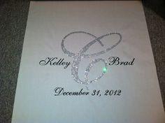 Swarovski crystal wedding aisle runner by www.customizedweddingcreations.com