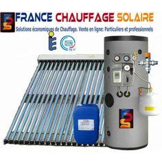 Chauffe-eau solaire 200 litres, capteur à tubes sous vide puissant  permettant d obtenir une grande partie de son eau chaude sanitaire grâce au  soleil a0fd51806c8b
