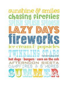 Wishing it was summer !!! -- Summer Fireworks Twinkling Stars 8x10 // Aqua Green by iloveitall, $20.00