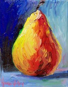Norma Wilson Original Oil Pear Fruit Still Life Art -- Norma Wilson