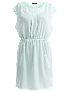 FEMININE SHORT DRESS #vilaclothes #pastel