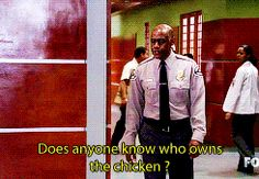Masters: Can someone please explain to me what House and Wilson are doing with those chickens ?     Thirteen: They have a bet to see who can keep a chicken in the hospital the longest without getting busted by security.     Masters: And why are they doing this ?     Foreman: The place they bought them only had one pig.