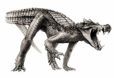 Todd Marshall/National Geographic. An artist's impression of Kaprosuchus saharicus, nicknamed BoarCroc