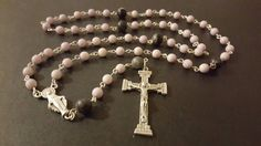 Light Purple Beaded Catholic Rosary