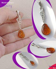 "Vanyssa Bijuu - Bijuterii: ""Authentic Baltic Amber"" - Pandantiv cu Design Mod..."