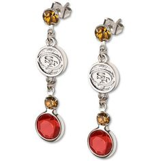 Logo Art San Francisco 49ers Ladies Spirit Crystal Dangle Earrings