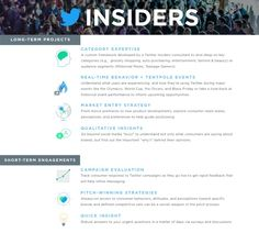 Twitter Wednesday introduced Twitter Insiders, a single destination for brands and agencies to fill their research needs.