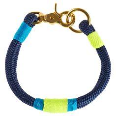 Hudson Dog Collar Navy Key Lime
