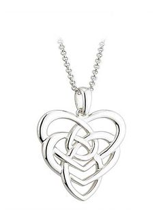 Cashs Sterling Silver Celtic Knot Pendant Necklace