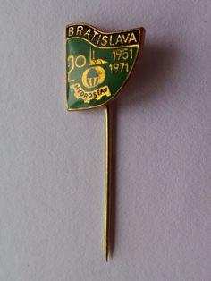 Badge pin pinback 20 years Bratislava Hydrostav 1951 - 1971   Collectibles, Historical Memorabilia, Cities & Towns   eBay! Bratislava, Pin Badges, 20 Years, Cities, Accessories, Ebay, City