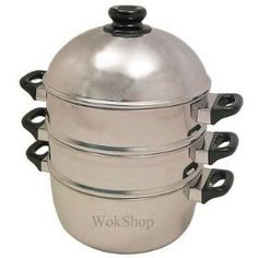 10 inch Stainless Steamer Set -- Visit the image link more details. (This is an affiliate link) Kitchen Design, Steamers, Pots, Recovery, Favorite Things, Image Link, Cuisine Design, Design Of Kitchen