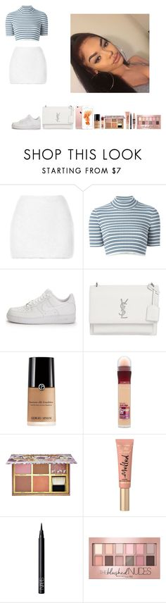 """""""-Glo Queen"""" by thegloup-reina on Polyvore featuring Rodarte, Alessandra Rich, NIKE, Yves Saint Laurent, Maybelline, Benefit, Too Faced Cosmetics and NARS Cosmetics"""